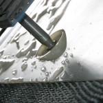 Taglio a getto d'acqua-dettaglio